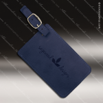 Laser Engraved Leather Luggage Tag Blue Etched Gift Leather Luggage Tags