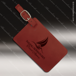 Laser Engraved Leather Luggage Tag Rose' Etched Gift Leather Luggage Tags
