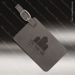 Laser Engraved Leather Luggage Tag Gray Etched Gift Leather Luggage Tags
