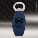 Laser Engraved Leather Magnetic Bottle Opener Blue Etched Gift Leather Magnetic Bottle Openers