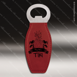 Laser Engraved Leather Magnetic Bottle Opener Rose' Etched Gift Leather Magnetic Bottle Openers