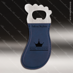 Laser Engraved Leather Magnetic Foot Shaped Bottle Opener Blue Etched Gift Leather Magnetic Bottle Openers