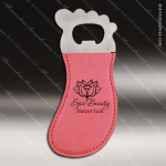 Laser Engraved Leather Magnetic Foot Shaped Bottle Opener Pink Etched Gift Leather Magnetic Bottle Openers