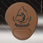 Laser Engraved Leather Mouse Pad Dark Brown Etched Gift Leather Mouse Pads