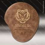Laser Engraved Leather Mouse Pad Rustic Etched Gift Leather Mouse Pads