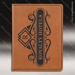 Laser Engraved Leather Passport Holder Rawhide Etched Gift Leather Passport Holders