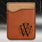 Laser Engraved Leather Phone Wallet Rawhide Etched Gift Leather Phone Wallets