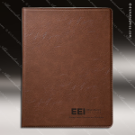 Laser Engraved Leather Portfolio Dark Brown Etched Gift Leather Portfolios