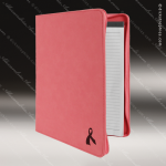 Laser Engraved Leather Portfolio With Zipper Pink Etched Gift Leather Portfolios With Zipper