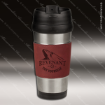 Engraved Leather Stainless Steel 16 Oz. Mug Rose Grip Laser Etched Gift Leather Stainless Steel 16 Oz. Mugs