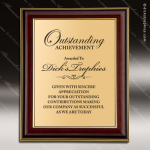 Engraved Mahogany Plaque Framed Insert Photo Plate Wall Placard Award Mahogany Finish Award Plaques