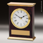 Desk Gift Mahogany Piano Finish Mantle Engraved Clock Award Mahogany Finish Clocks