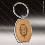 Laser Etched Engraved Keychain Maplewood Oval Silver Gift Award Maplewood Keychains