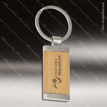 Laser Etched Engraved Keychain Maplewood Rectangle Silver Gift Award Maplewood Keychains