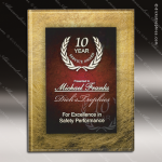Engraved Acrylic Plaque Red Burgundy & Gold Wall Placard Award Marble Accented Acrylic Awards