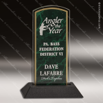 Economy Acrylic Green Accented Marbleized Arch Trophy Award Marble Accented Acrylic Awards