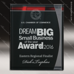 Engraved Acrylic Plaque Artistic Red/Black Lustre Wall Placard Award Marble Accented Acrylic Awards
