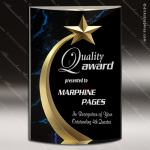 Acrylic Blue Accented Marbleized Shooting Star Trophy Award Marble Accented Acrylic Awards