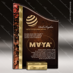 Acrylic Red Accented Textured SunRay Trophy Award Marble Accented Acrylic Awards