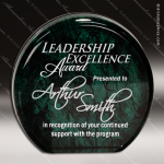 Acrylic Green Accented Marbleized Aurora Circle Trophy Award Marble Accented Acrylic Awards
