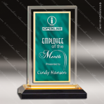 Acrylic Green Accented Marbleized Gold Royal Impress Trophy Award Marble Accented Acrylic Awards