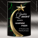 Acrylic Green Accented Marbleized Shooting Star Trophy Award Marble Accented Acrylic Awards
