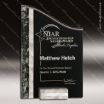 Acrylic Black Accented Textured SunRay Trophy Award Marble Accented Acrylic Awards