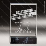 Acrylic Black Accented Marbleized Fusion Trophy Award Marble Accented Acrylic Awards