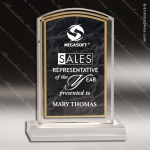 Acrylic Black Accented Marbleized Arch Trophy Award Marble Accented Acrylic Awards