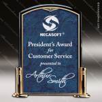 Acrylic Blue Accented Arch Marble Trophy Award Marble Accented Acrylic Awards