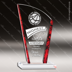 Acrylic Red Accented Avanti Arch Marble Edge Acrylic On Accustik Base Marble Accented Acrylic Awards