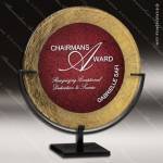 Acrylic Red Accented Acrylic Art Plaque Round Standing Trophy Award Marble Accented Acrylic Awards