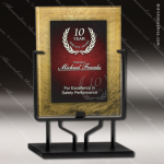 Acrylic Red Accented Acrylic Art Plaque Standing Trophy Award Marble Accented Acrylic Awards