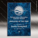 Javai Rectangle Glass Blue Accented Arista Trophy Award Marble Accented Glass Awards