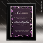 Engraved Black Piano Finish Plaque Violet Marble Plate Wall Placard Award Marble Colored Finish Plaques