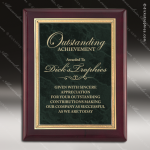 Engraved Rosewood Plaque Green Marble Plate Gold Border Wall Placard Award Marble Colored Finish Plaques