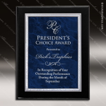 Engraved Black Piano Finish Plaque Blue Marble Plate Wall Placard Award Marble Colored Finish Plaques