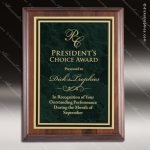 Engraved Walnut Plaque Green Marble Plate Gold Border Award Marble Colored Finish Plaques