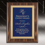 Engraved Economy Plaque Roman Edge Blue Plate Wall Placard Award Marble Colored Finish Plaques