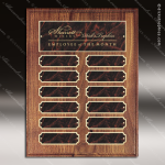 The Monico Walnut Perpetual Plaque  12 Red Marble Plates Marble Plate Finish Perpetual Plaques