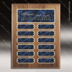 The Monico Walnut Perpetual Plaque  12 Blue Marble Plates Marble Plate Finish Perpetual Plaques