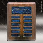 The Monico Walnut Perpetual Plaque Round Corner  12 Blue Marble Plates Marble Plate Finish Perpetual Plaques