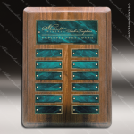The Monico Walnut Perpetual Plaque Round Corner  12 Green Marble Plates Marble Plate Finish Perpetual Plaques