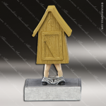 Kids Resin Bobble Head Series Mascot Outhouse Trophy Awards Mascot Trophy Awards