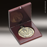 Medallion Presentation Box Rosewood Recessed Wood Medallion Cases & Boxes