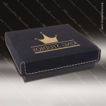 Embossed Etched Leather Medallion Box - Black/Gold Medallion Cases & Boxes