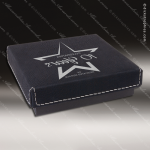 Embossed Etched Leather Medallion Box - Black/Silver Medallion Cases & Boxes