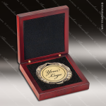 Medallion Presentation Box Rosewood Foam Lining Magnetic Closure Medallion Cases & Boxes