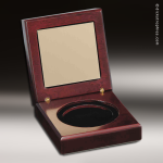 Piano Finish Mahogany Medal Presentation Box Medallions | Medals
