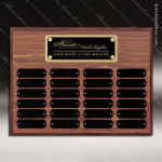 The Morvillo Laminate Walnut Perpetual Plaque  24 Black Plates Medium Perpetual Plaques - 24-36 Plates
